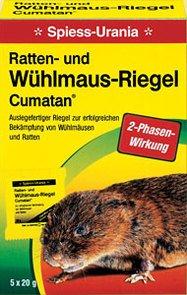 Urania Ratten- und Wühlmaus-Riegel Cumatan® - Rodentizid